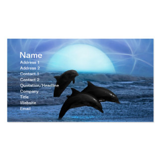 Dolphins by moonlight business cards