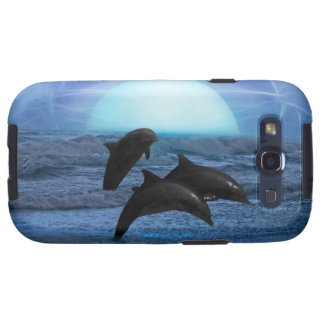 Dolphins by moonlight galaxy s3 cover
