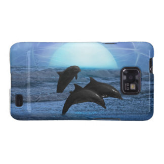 Dolphins by moonlight samsung galaxy SII covers
