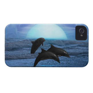 Dolphins by moonlight Case-Mate iPhone 4 case