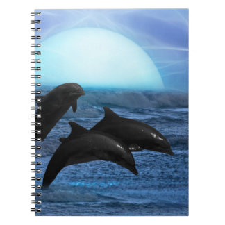 Dolphins by moonlight note book