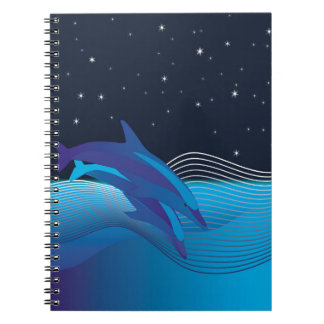 Dolphins by Night Notebook
