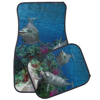 Dolphins Car Floor Mat