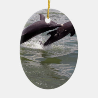 Dolphins Ceramic Ornament