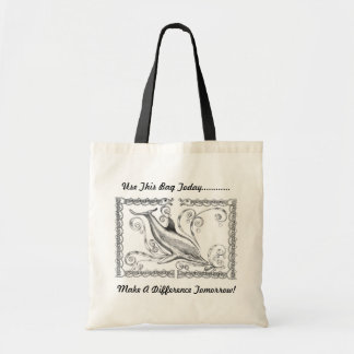 """Dolphins Charcoal II"" Tote Bag"