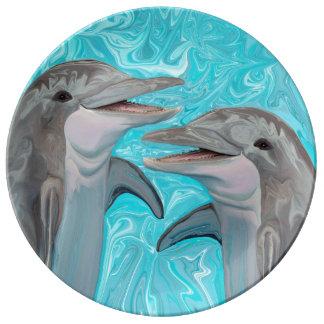 Dolphin's Chatter Dinner Plate