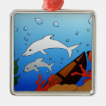 Dolphins Christmas Tree Ornament