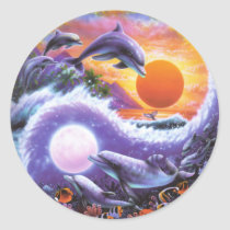 Dolphins Classic Round Sticker