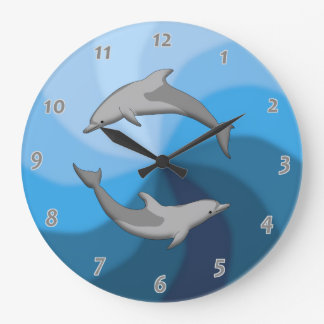 dolphins clock