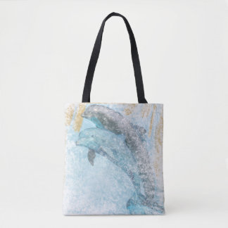 Dolphins Coastal Living | Tote Bag