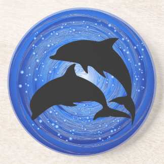 Dolphins Couple in Water Vortex Coaster