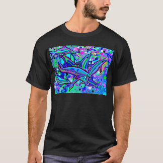 dolphin's 'dancing' in underwater bubbles T-Shirt