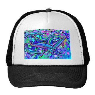 dolphin's 'dancing' in underwater bubbles trucker hat