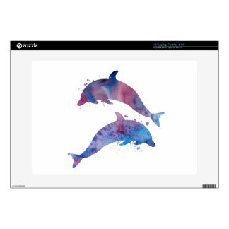 """Dolphins Decal For 15"""" Laptop"""