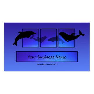 Dolphins Dolphin Blue Ocean Business Card