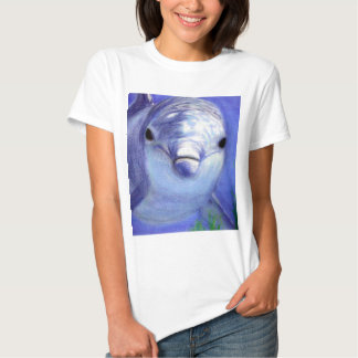 Dolphins Drawing Blue Dolphin Underwater Picture T-shirt