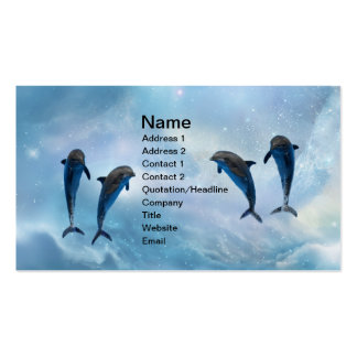 Dolphins fantasy Double-Sided standard business cards (Pack of 100)