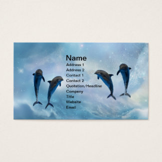 Dolphins fantasy business card