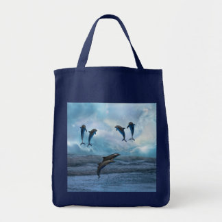 Dolphins fantasy canvas bags