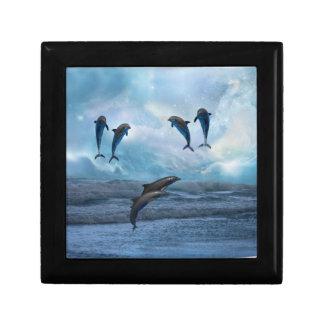 Dolphins fantasy keepsake box