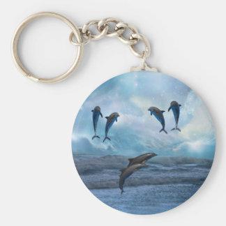 Dolphins fantasy keychain