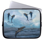 Dolphins fantasy laptop computer sleeves