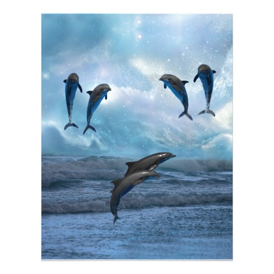 Dolphins fantasy letterhead