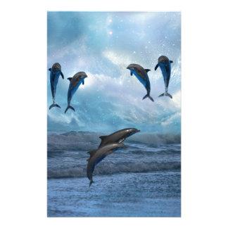 Dolphins fantasy stationery