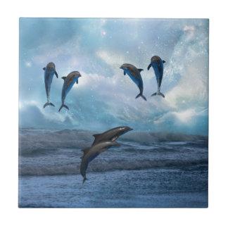 Dolphins fantasy tile