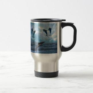 Dolphins fantasy travel mug