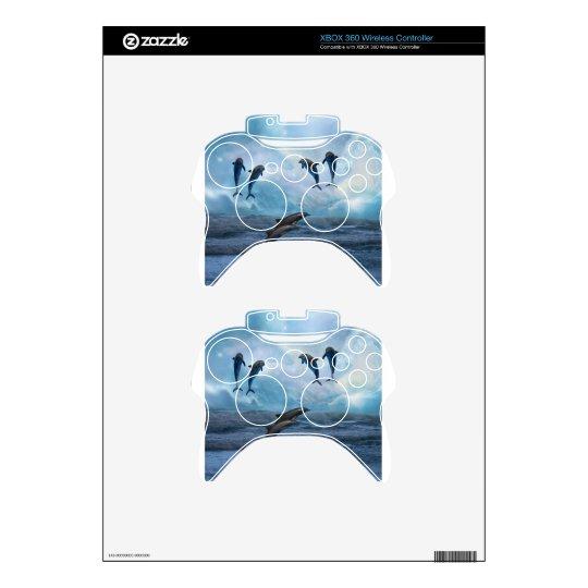 Dolphins fantasy xbox 360 controller decal