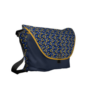 Dolphins, fish, turtles and crabs. courier bag