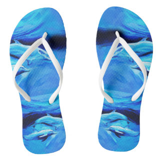 """Dolphins"" flip flops with Slim Straps"