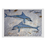 Dolphins (fresco) poster