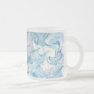 dolphins frosted glass coffee mug
