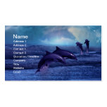 Dolphins fun and play Double-Sided standard business cards (Pack of 100)