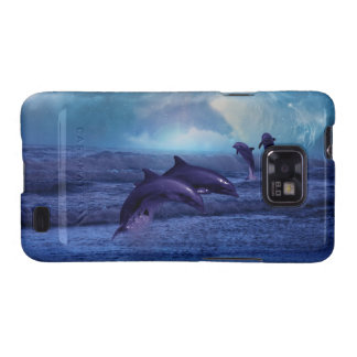 Dolphins fun and play samsung galaxy SII cases