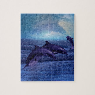 Dolphins fun and play jigsaw puzzle