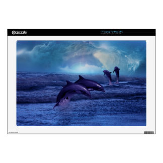 Dolphins fun and play laptop decal