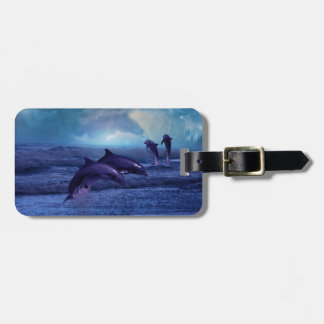 Dolphins fun and play tag for luggage