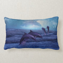 Dolphins fun and play lumbar pillow