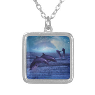 Dolphins fun and play necklace