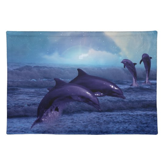 Dolphins fun and play placemat