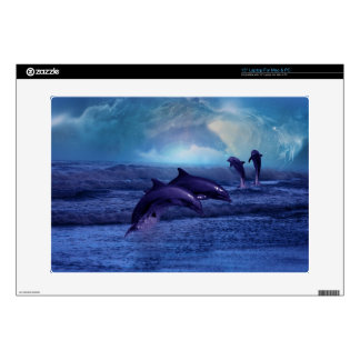 """Dolphins fun and play skin 15"""" laptop decal"""