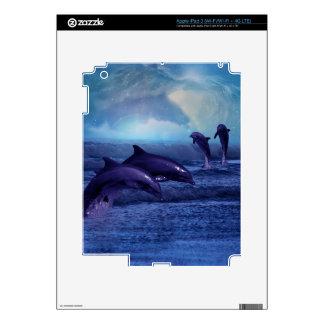 Dolphins fun and play skin iPad 3 skin