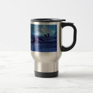 Dolphins fun and play travel mug