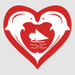 Dolphins Heart   Sticker
