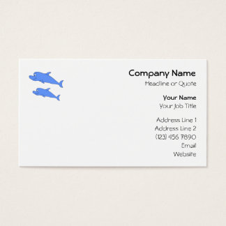 Dolphins in blue. business card