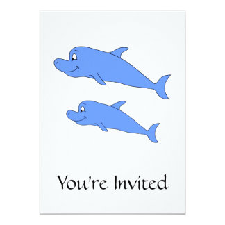 Dolphins in blue. card