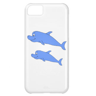 Dolphins in blue cover for iPhone 5C
